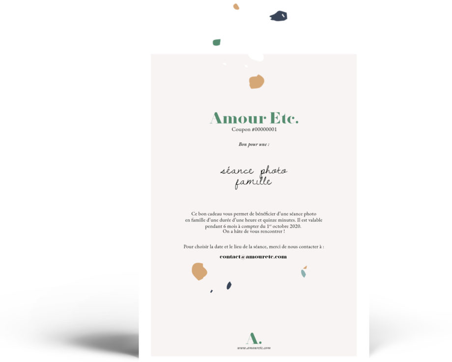 Amour Etc. - Bon cadeau photo